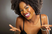 Cute african american woman — Stock Photo