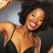Fun africamericgirl studio portrait — Stock Photo #22380253