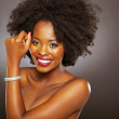 Attractive african woman topless - Stock Photo