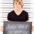 Teen boy mug shot — Stock Photo