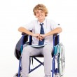 Handicapped high school student — Stock Photo #22384445
