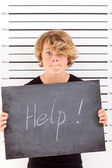 Teen in trouble with law — Stock Photo