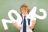 High school student is struggling with mathematics — Stock Photo