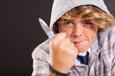 Violent teen boy — Stock Photo