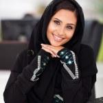 Pretty Arabian corporate worker — Stock Photo