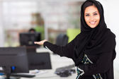 Arabian businesswoman presenting — Stock Photo