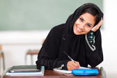 Happy female middle eastern high school student — Stock Photo