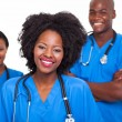 Group of afro americnurses — Stock Photo #23069184