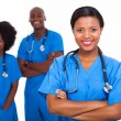 Young african american medical workers — Stockfoto