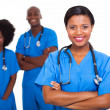Young african american medical workers — Foto Stock