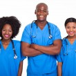 Group of black doctors and nurses — Stock Photo #23069392