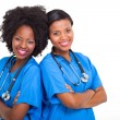Young african nurses — Stock Photo