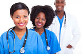 Group of african medical workers — Stock Photo
