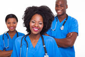 Group of afro american nurses — Stock Photo