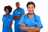 Young african american medical workers — Stock Photo