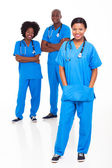 Group of black medical workers — Stock Photo