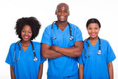Group of black doctors and nurses — Stock Photo