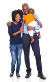 Young African American couple with baby — Stock Photo