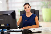 Indian manager in her office — Stock Photo