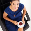 Businesswoman on tea break — Stock Photo