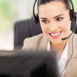 Support center operator with headset — Stock Photo #23462808