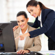 Business women working at the office — Stock Photo