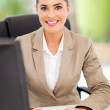Female secretary in office typing — Stock Photo #23467014
