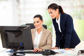 Business women working using computer — Stockfoto