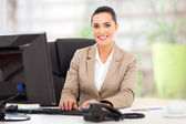 Young businesswoman in office — Foto Stock