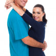 Husband and wife hugging — Stock Photo