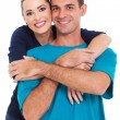Young happy smiling couple — Stock Photo