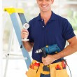 Security surveillance system installer — Stock Photo
