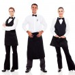 Stock Photo: Waiter and waitress