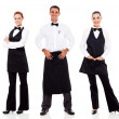 Waiter and waitress — Stock Photo #23777921