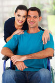 Loving wife and handicapped husband — Stock Photo