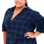 Happy overweight teenage girl — Stock Photo #23827611