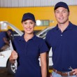 Auto service center employees — Stock Photo #24224855