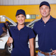 Stock Photo: Auto service center employees