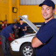 Foto de Stock  : Auto service business owner