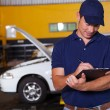 Stock Photo: Male auto workshop manager