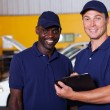 Vehicle service center manager and worker — Stock Photo #24226393