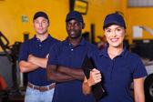 Garage workers — Stock Photo