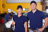 Auto service center employees — Stock Photo