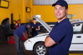 Auto service business owner — Stok fotoğraf