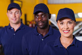 Auto repair shop employees — Stock Photo