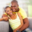 Young african couple in love — Stock Photo #24413559
