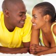 Young romantic african couple — Stock Photo