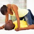 African couple flirting — Stock Photo #24414867