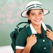 Royalty-Free Stock Photo: Beautiful teenage schoolgirl carrying backpack