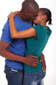 African american married couple kissing — Stock Photo